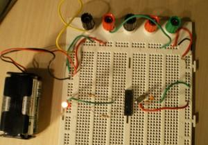 Circuito prueba 16F84A