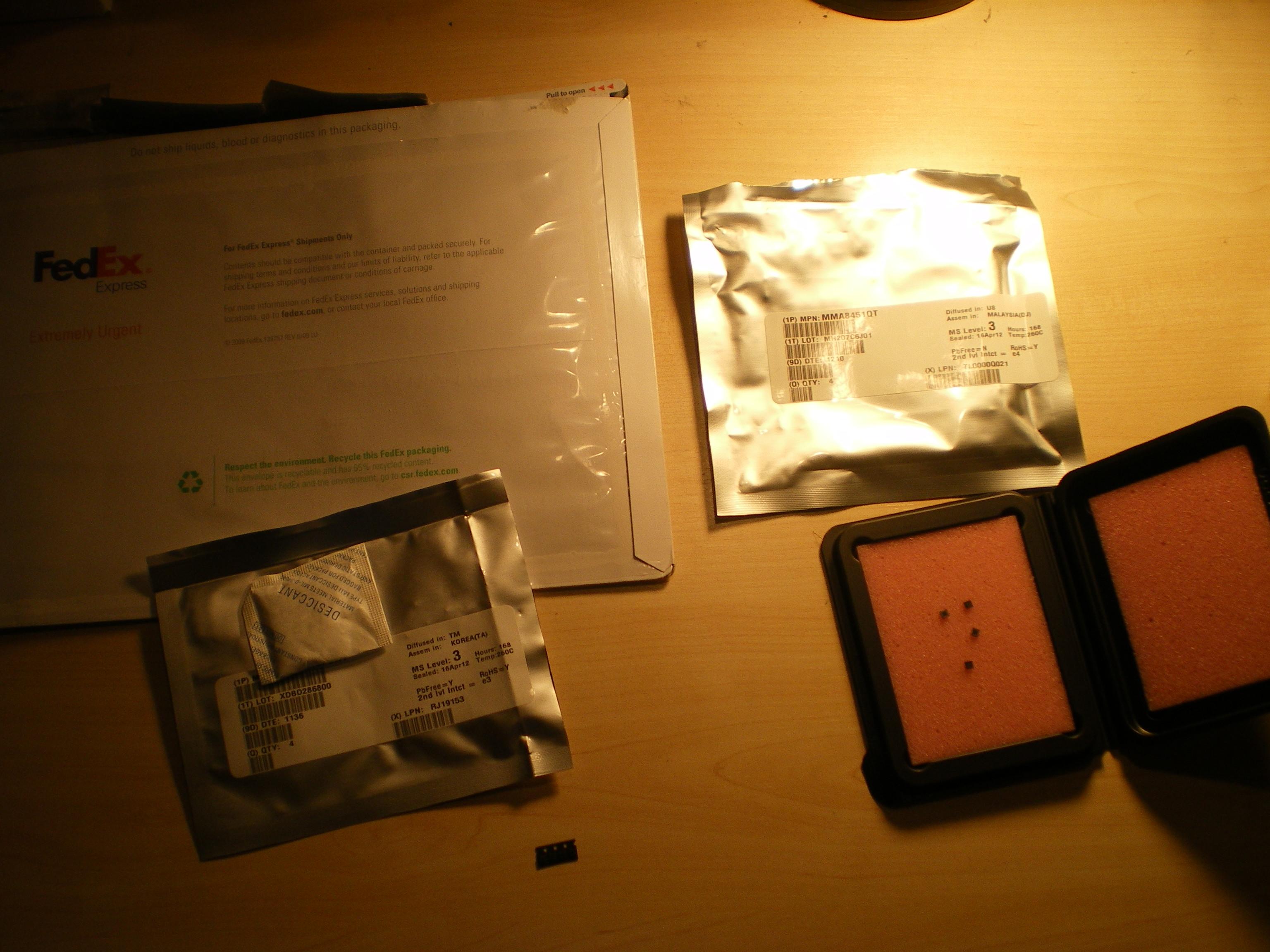 Chip acelerómetro I